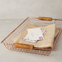 Rosy Wire Basket by Anthropologie in Copper Size: One Size Office