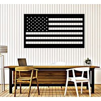 Vinyl Wall Decal American Flag USA Symbol Patriotic Decor Unique Gift (216ig)