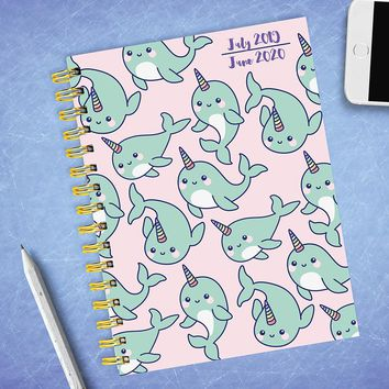 Hey Buddy the Narwahl (the Unicorn of the Sea) Medium Academic Weekly/Monthly Planner