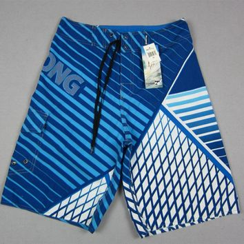 Board Shorts men 2017 New  boardshorts bermuda masculina Mens man Summer Pants Beach wear Quick dry print short swimsuit tie