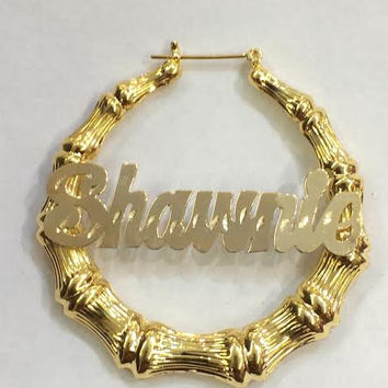 Personalized 14k Gold Overlay Any Name from myfamillystore on