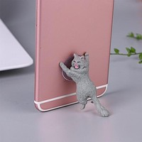 Cute Cat Resin Phone Holder with Suction Cup
