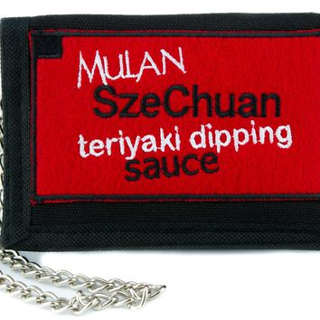 Mulan SzeChuan Teriyaki Dipping Sauce Tri-fold Wallet Rick and Morty