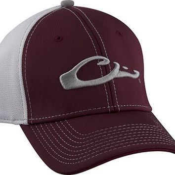 Drake Waterfowl Game Day Fitted Hat Mississippi State Maroon and White XL/2XL