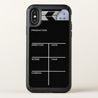 Clapboard cinema for action speck iPhone x case