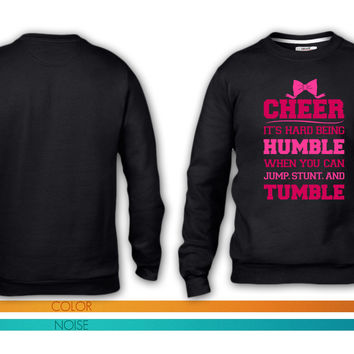 If Cheerleading Was Easy crewneck sweatshirt
