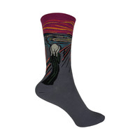 The Scream Crew Socks in Cranberry