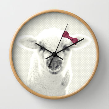 *** LITTLE LAMB *** Wall Clock by SUNLIGHT STUDIOS  Monika Strigel