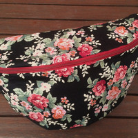 Floral Flowery Bumbag Fanny Pack Bag Hippie Boho Festival Clubbing Travelling