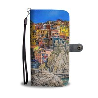 Colorful Cliffside Homes Phone Wallet Case