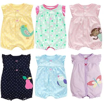 New Born Baby Clothes Cotton Baby Girl Clothes 2017 Summer Infant Girl Dress Jumpsuits Kids Costume For Newborn Baby Girl Romper