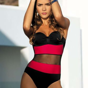 Mesh One Piece Bathing Suit - On Sale