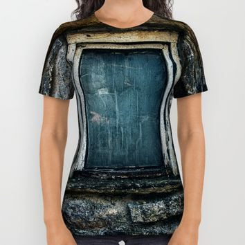 Who's That Peepin' In The Window? All Over Print Shirt by Mixed Imagery