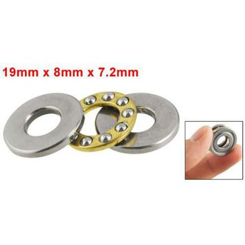 THGS Hot Sale Practical 19mm x 8mm x 7.2mm Silver Tone Metal Ball Thrust Bearing