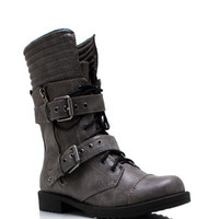 Zip-It-Good-Combat-Boots BLACK BROWN CHARCOAL - GoJane.com