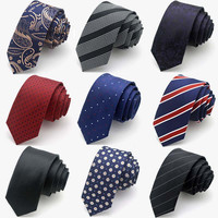 Hot New Fashion Male Brand Slim Necktie High Quality Skinny ties Cravatte For Men Neck Tie Formal Business 5cm Men's Accessories