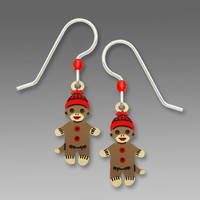 Sienna Sky Earrings - Baby Sock Monkeys