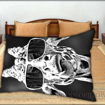 "Sunglasses Giraffe - 20 "" x 30 "" inch,Pillow Case and Pillow Cover."