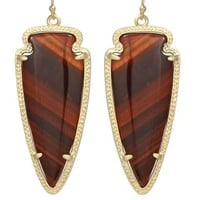 Skylar Earrings in Red Tiger's Eye - Kendra Scott Jewelry
