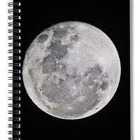 Moon Full - Spiral Notebook