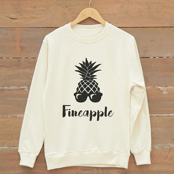 Fineapple sweatshirt bachelorette party gift shirt men sweatshirt women sweatshirt jumper sweatshirt gold print metallic print glitter print