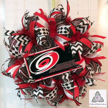 Carolina Hurricanes Deco Mesh Wreath