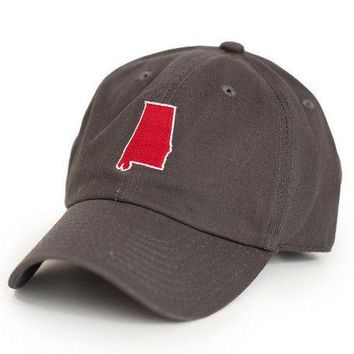 AL Tuscaloosa Gameday Hat in Grey by State Traditions
