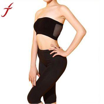 JECKSION Women Sexy Exercise Bras 2016 Fashion Strapless Top Vest Breathable Crop Top Female Shirt Women cropped #LYW