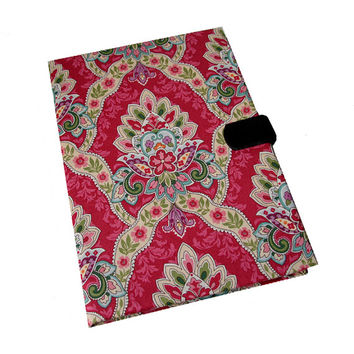 Kindle Hd HDX Nook Kobo Paperwhite Tablet Case iPad Air 2 3 or 4 Mini Hard Case, iPad Cover, Pink Damask, i Pad stand up Magnetic Closure