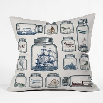 Belle13 Vintage Preservation Throw Pillow