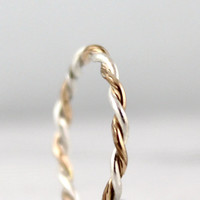 Sterling Silver and 14K Gold Filled Stacking by EngagedJewelry