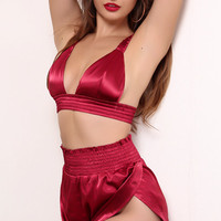 Vera Two Piece Satin Outfit