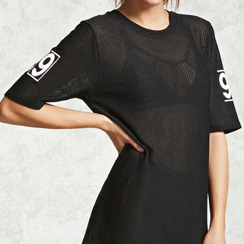Active Perforated Graphic Top