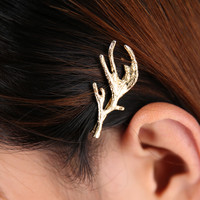 Deer Fairy Gold Antler Bobby Pin Hair Pin. Woodland Wedding Hair Piece. 1 Piece