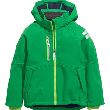 H&M - Softshell Jacket - Green - Kids