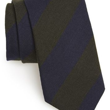 Men's Todd Snyder White Label Stripe Wool & Silk Tie, Size Regular