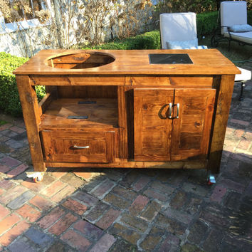 Custom Big Green Egg Table (Free Shipping for Some Areas)