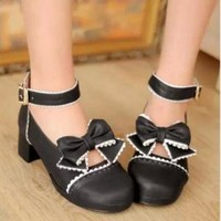 New 2014 Pastel Cute Lolita Bow Shoes on Luulla