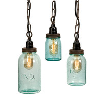 Lexington Mason Jar Pendant Lights - Set of 3