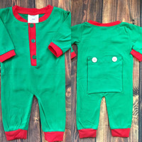 Unisex Drop Bottom Baby Christmas Pajamas, Baby Boy/Girl Christmas Pajamas, Christmas PJ's *Closes Aug 29th* Extended Sept 8th- Preorder #0012