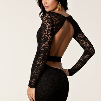 Lace Cut Out Back Dress, John Zack