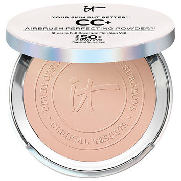 Sephora: IT Cosmetics : Your Skin But Better™ CC+ Airbrush Perfecting Powder™ with SPF 50+ : bb-cc-cream-face-makeup