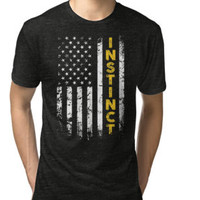 Team Instinct Pokemon American Flag T-Shirt by poppyshirt