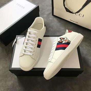 Gucci Women Men Ace embroidered sneaker