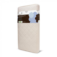 Naturepedic Crib Mattress - Organic Baby & Toddler 2-Stage + Ultra Breathable Pad