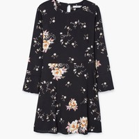 Floral-print flowy dress - Woman | MANGO United Kingdom