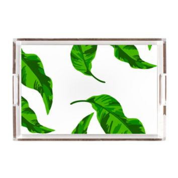Banana Leaves Lucite Tray