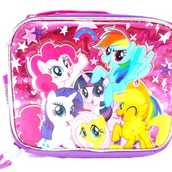 Hasbro My Little Pony Girls Grils Canvas Shine Pink & Purple Insulated Lunch Bag