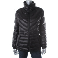 Bernardo Womens Down Filled Long Sleeves Puffer Jacket