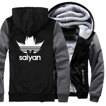 Super Saiyan Casual Sweatshirt Men 2019 Autumn Winter Brand Streetwear Harajuku Men's Jacket Hoodies Dragon Ball Z Thick Coats